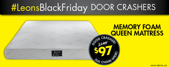 RT @LeonsFurniture: RT for your chance to win this Memory Foam Queen Mattress! #LeonsBlackFriday http://t.co/28VtjYIflm