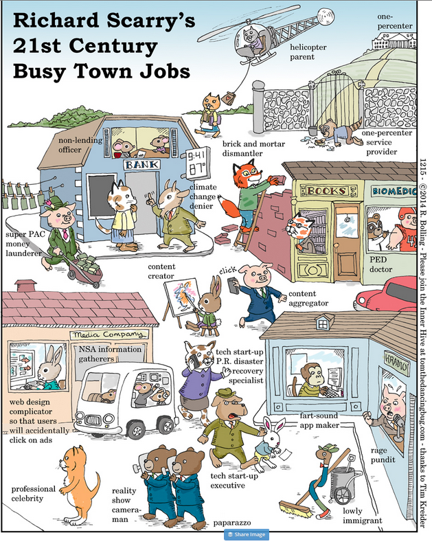 nails it RT @dgoldenberg: Richard Scarry's Busy Town jobs for the 21st century: http://t.co/f0lDWG66Gk http://t.co/zDwNQeNL2K