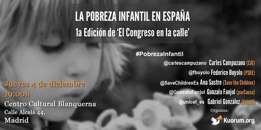 Esta tarde #pobrezainfantil con @fbuyolo @carlescampuzano @GonzaloFanjul @SaveChildrenEs @unicef_es @kuorumorg http://t.co/hnBLf3eigq