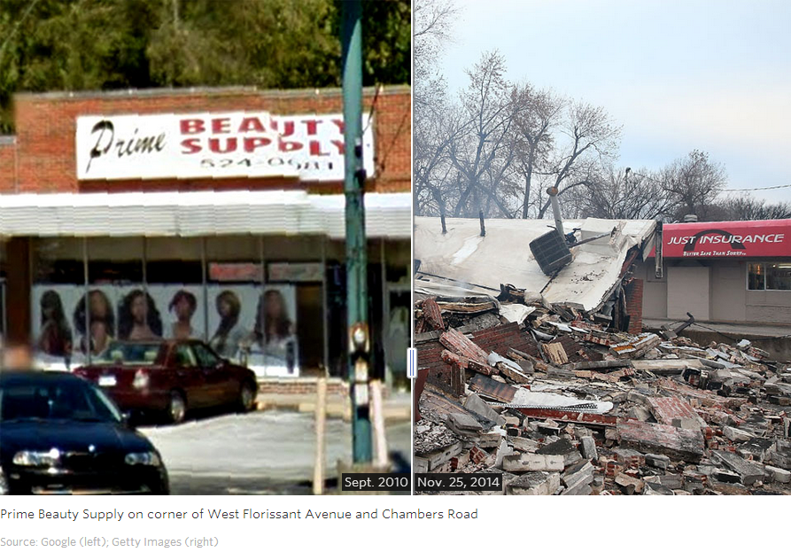 Ferguson before and after the riots photos