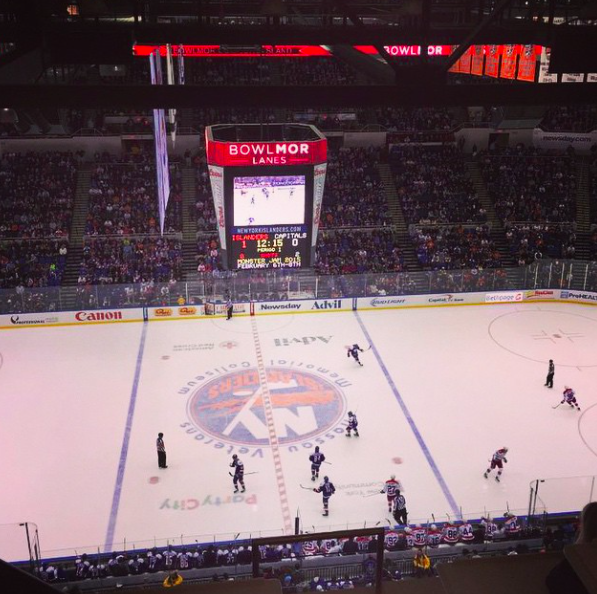 The view from the box at islanders game #GoIslandersFollow http://t.co/vs0zhe5kxl
