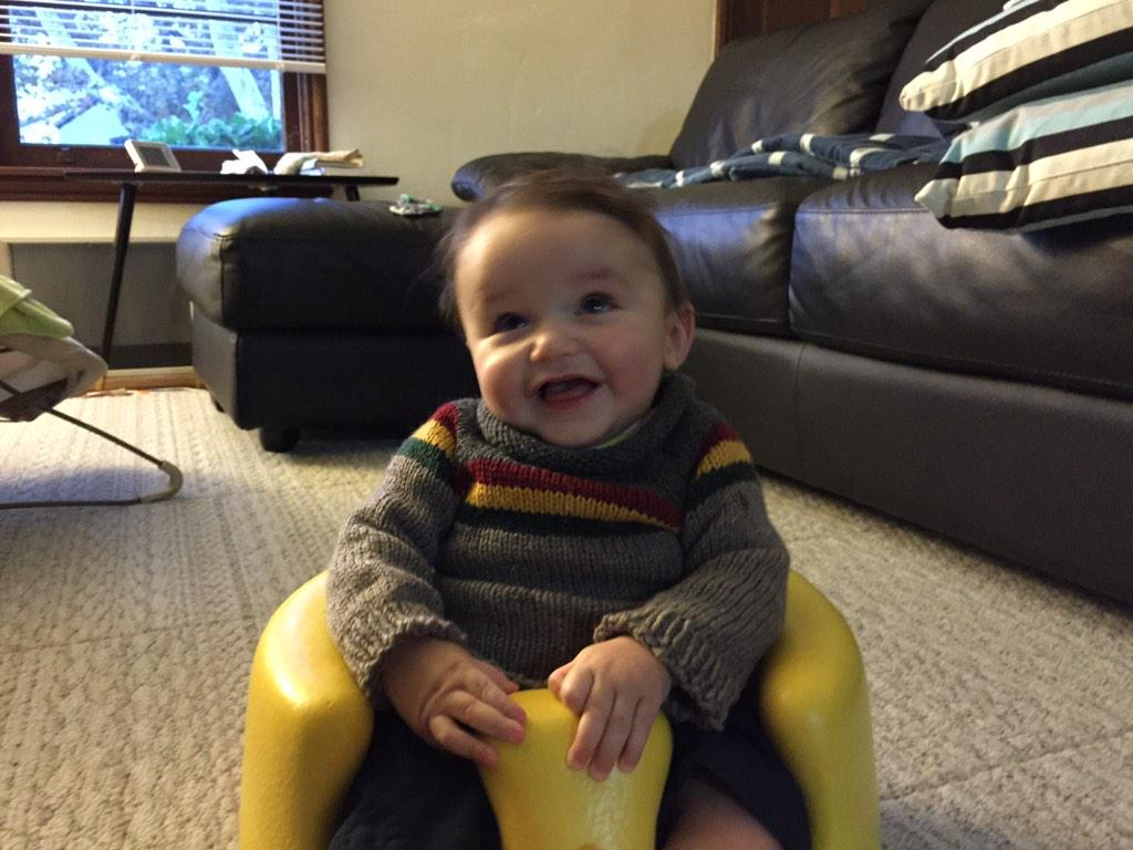 Love this! RT @firepile: So my friends made Mathison a Wesley Crusher sweater and I might die of cuteness (cc: @wilw) http://t.co/bH379vO1Vs