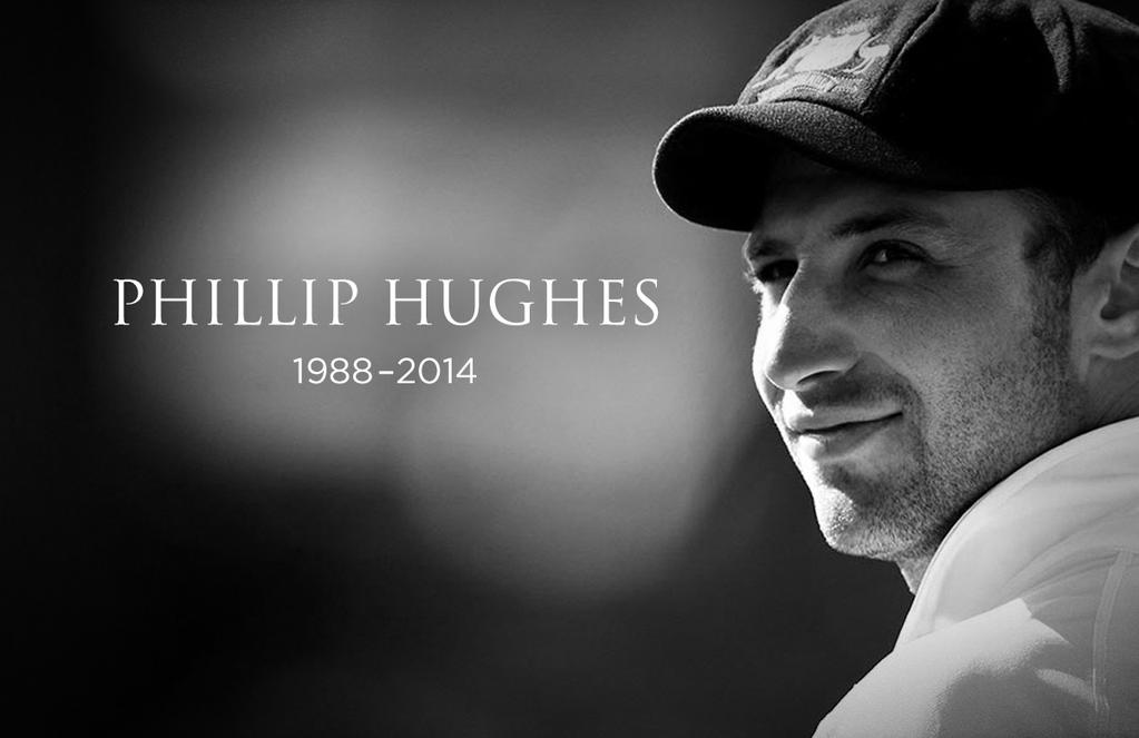Our sincerest & most heartfelt condolences go out to Phil Hughes' family, friends,teammates, @CricketAus & fans. #RIP http://t.co/R94bx8m7a7