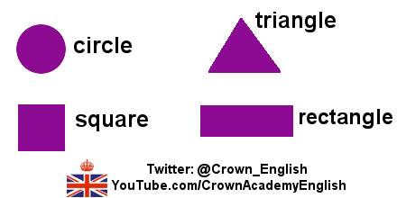 "CrownAcademyEnglish on Twitter: ""Names of 4 shapes: circle, square ..."