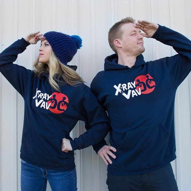 """ccf4eb391687 We made a hoodie to celebrate. http   store.roosterteeth .com collections outerwear products xray-and-vav-pullover-hoodie …  pic.twitter.com nfcHXXcyNX"""" PLEAZ"""