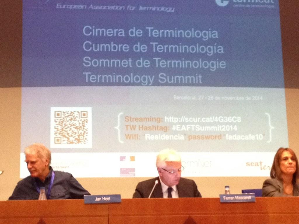 "#eaftsummit2014 #Terminology Summit in Barcelona @TermCoord presents ""Terminology, Communication and Social Media"" http://t.co/weJqnmfFx6"