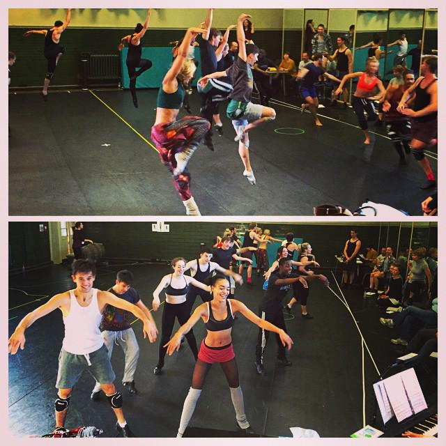 A busy day today rehearsing for #CatsLondon with @NicoleScherzy! Tkts still available from Jan http://t.co/6aV7BmZE9H