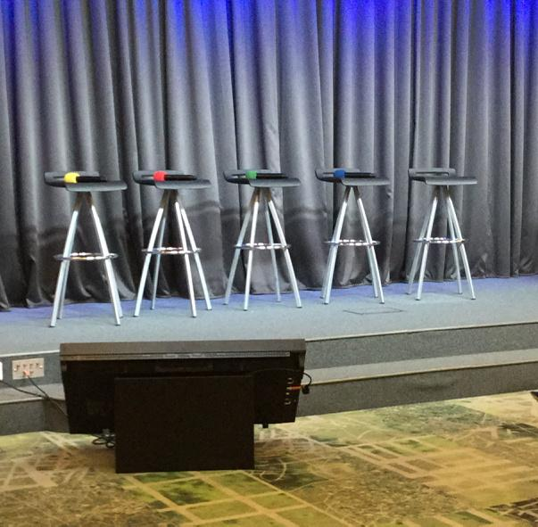 If we didn't say where we were, these microphones on the seats at the stage would be quite the clue! #luxdigital http://t.co/G2DidnIa7m