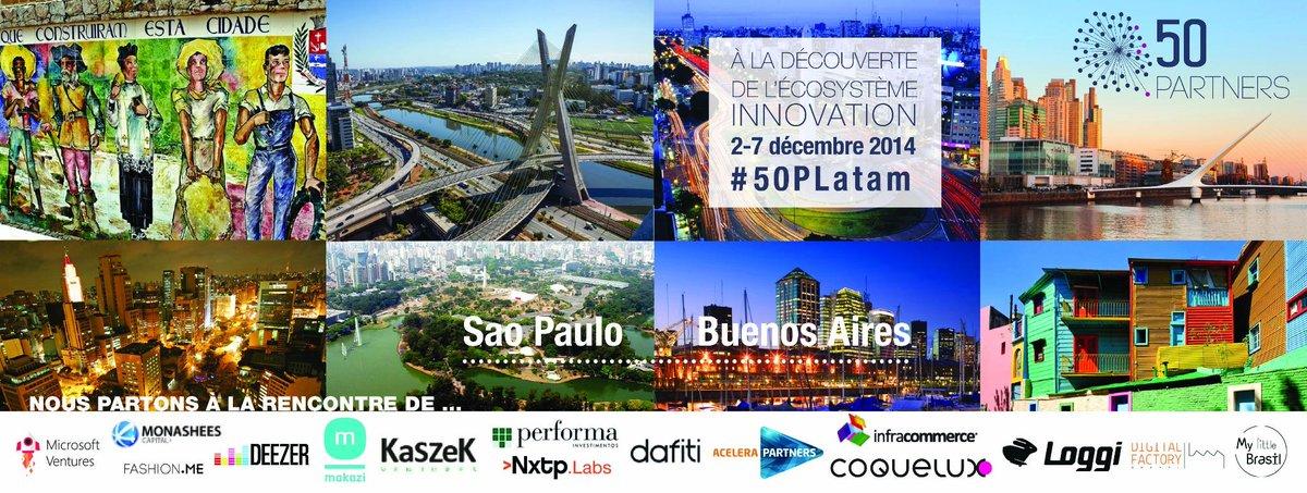J-5 avant notre #BusinessTrip à la rencontre de l'écosystème innovation en Amérique du Sud. Suivez-nous #50PLatam http://t.co/Z4dpI4frnt