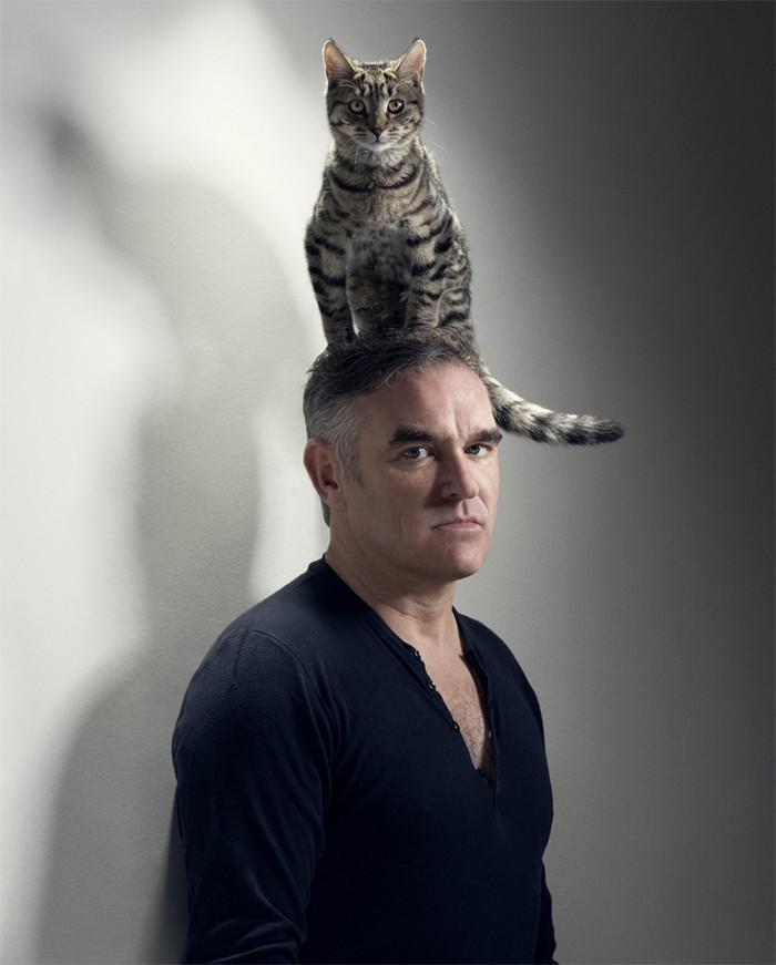 The cat who sat on Morrissey's head #TBT: http://t.co/Lfiomd6Ban http://t.co/AZBcZ2oGI6