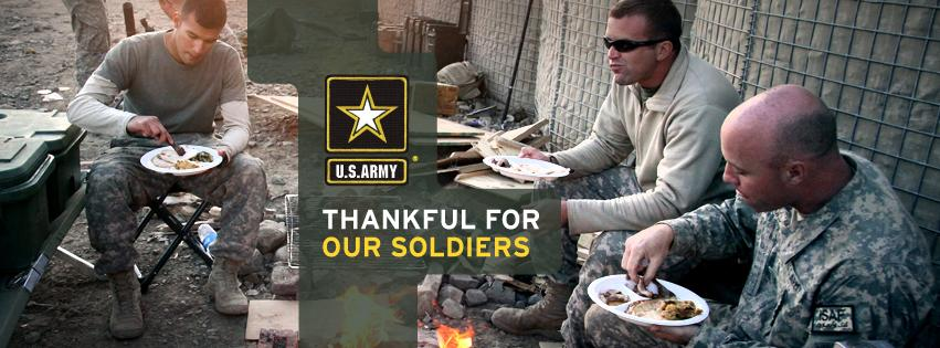 Wishing everyone a Happy #Thanksgiving! We are thankful for our Soldiers. What are you thankful for?