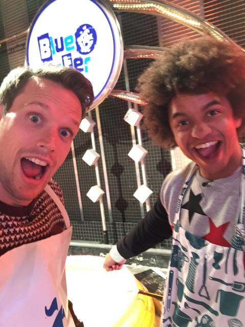 RT @gregfoot: I'm LIVE on #BluePeter at 5.30 (well, 5.50ish!) - here's @iamradzi & I prepping our 300L of custard mix! TO RUN ON! http://t.…