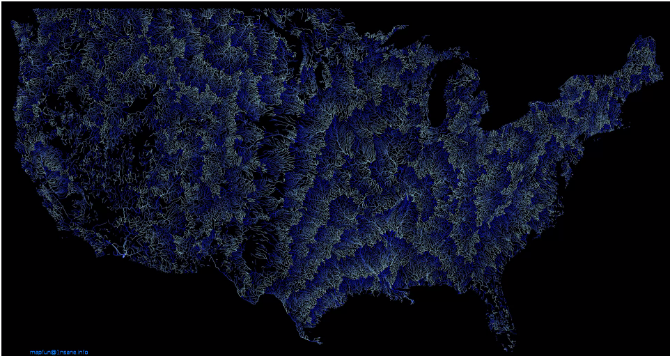 Brilliant Maps On Twitter Animated US RiverStream Flow - Us river flow direction map