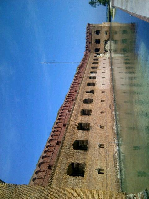 Fort Jefferson, Dry Tortugas. Part Dickensian,Spanish,American,Caribbean, Tudor. Weirdest place I ever saw. http://t.co/qSnNTzliQt