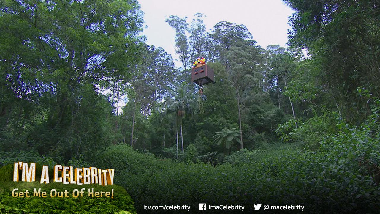 RT if you'd like to go 'Up' in our Little House on the Scary… *chuckles* #ImACeleb http://t.co/7OjVlKvHO1