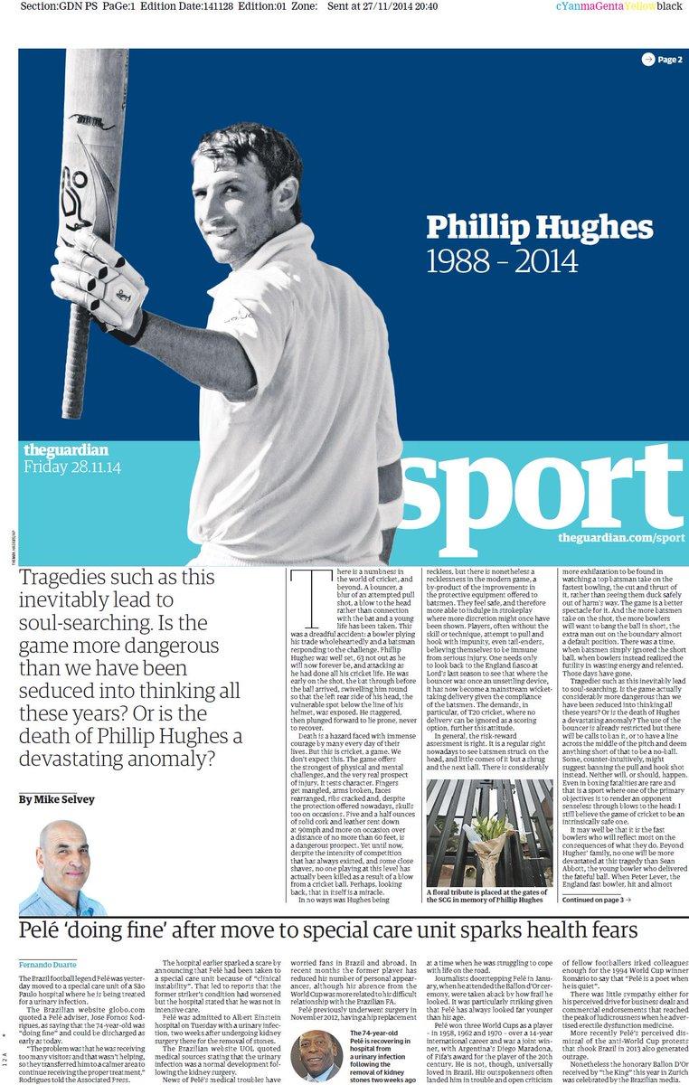 Portada de The Guardian del 28 de Noviembre
