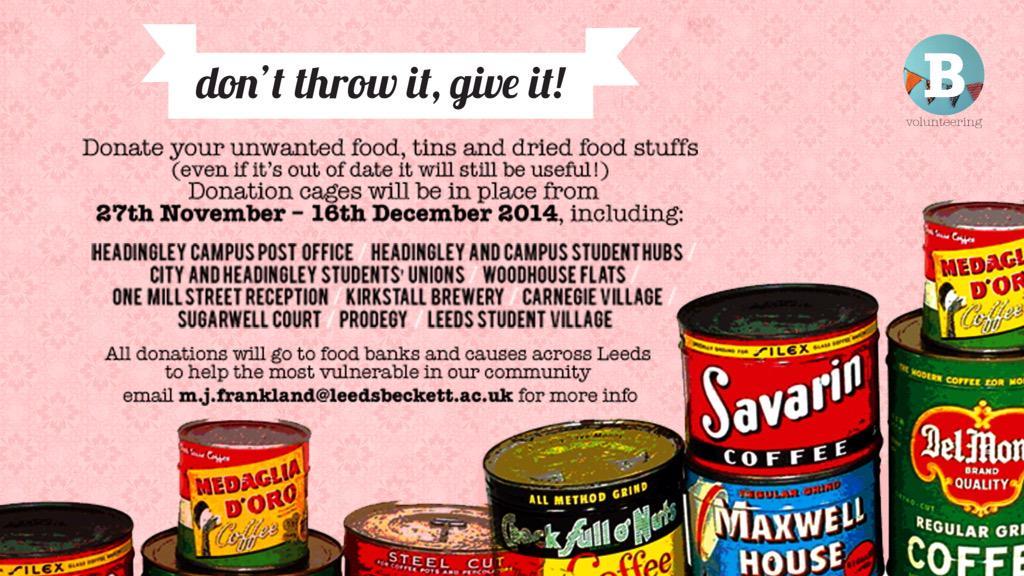 Leeds Se Foodbank On Twitter Big Shout Out For