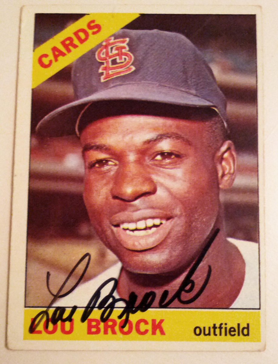 Retweet this & Follow @EscapeTheLines for a shot to #WIN this 1966 Lou Brock @toppscards Autographed Card. #STLCards http://t.co/aLRDIlqnUp