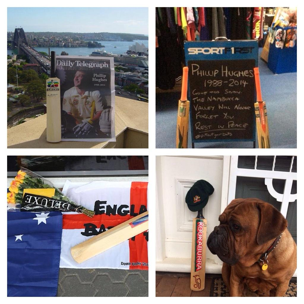 Across Australia and beyond people are joining the amazing #putoutyourbats campaign to remember #PhillipHughes http://t.co/EVKnpv8YlO
