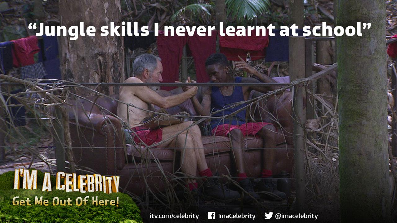 Do you agree with Alice? @MichaelBuerk's got tinchy bit better rap and rhyme skillz than @TinchyStryder? #ImACeleb http://t.co/C5PfgdFdLE