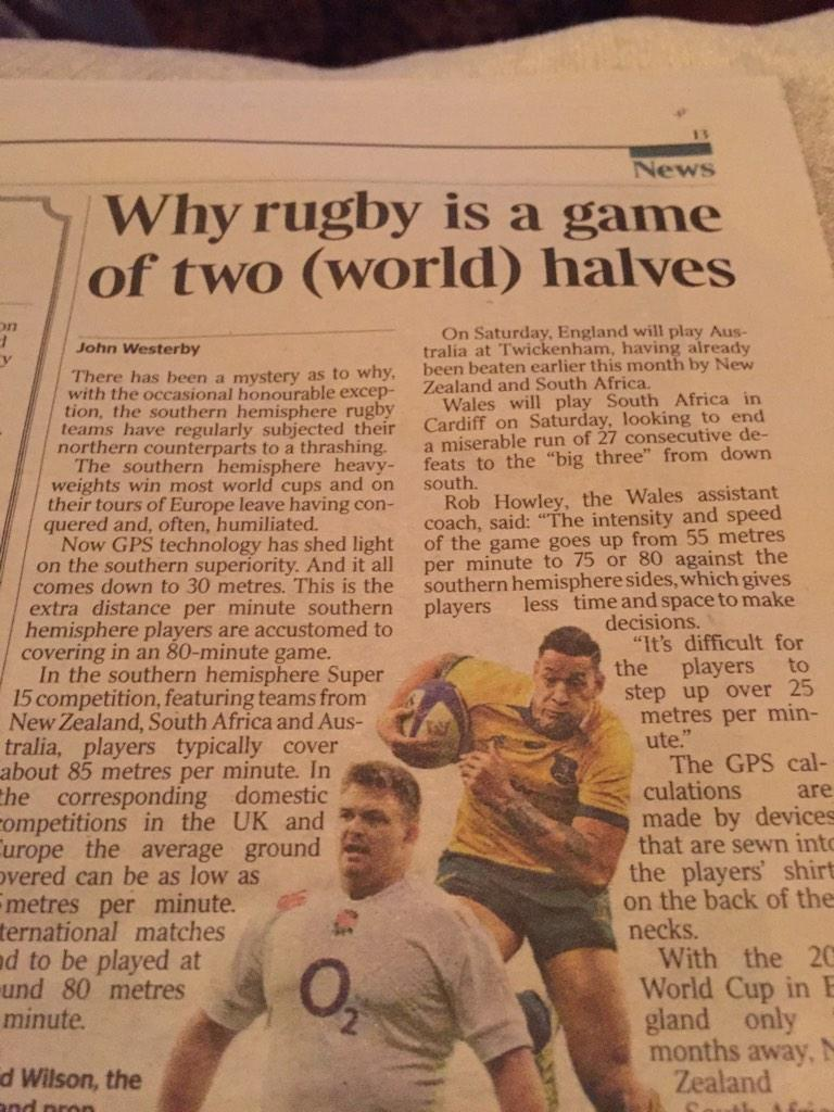 So it's true....stats show Southern Hemisphere run 30m on average more than us. Different refereeing? http://t.co/yOKby1m9pf