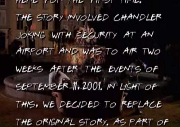 ICYMI: this year Friends released the scene they deleted after 9/11 as a mark of respect: http://t.co/gbf8U3WhJx http://t.co/S6oXRRHUYJ