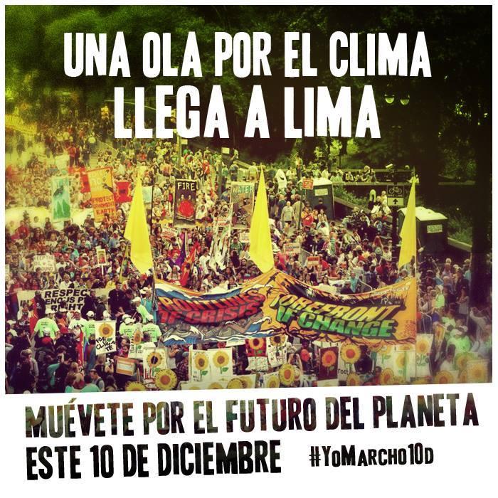 Vives en #Lima? Marcha con nosotros #MuevetePor soluciones reales al cambio climático #yomarcho10D #COP20Lima #COP20 http://t.co/UCpB46Day0