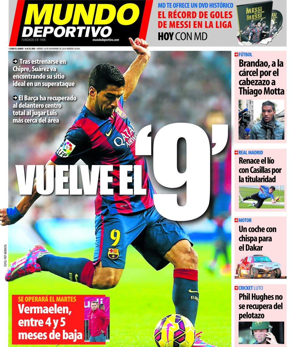 Portada de Mundo Deportivo del 28 de Noviembre