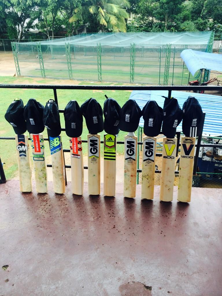 England EPP programme in Sri Lanka, showing our respect for the loss of Phil Hughes. #63notout #408 #putoutyourbats http://t.co/1BTaU3CyIl