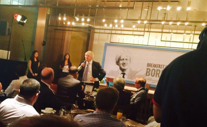Pleasure to speak at Standard Chartered breakfast event & to hear from business community here on London & Singapore http://t.co/np6hbBaMW1