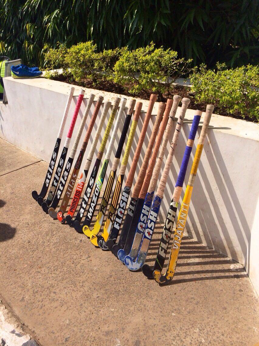 Indian hockey team puts their sticks out for #PhilHughes.