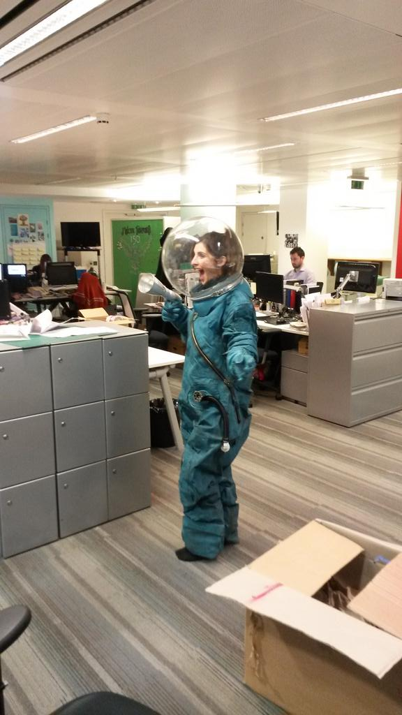 RT @AdeleAitchison: @JWT_London Spacewoman Georgia in the house! #myjwt http://t.co/FKw9Qv4MtX