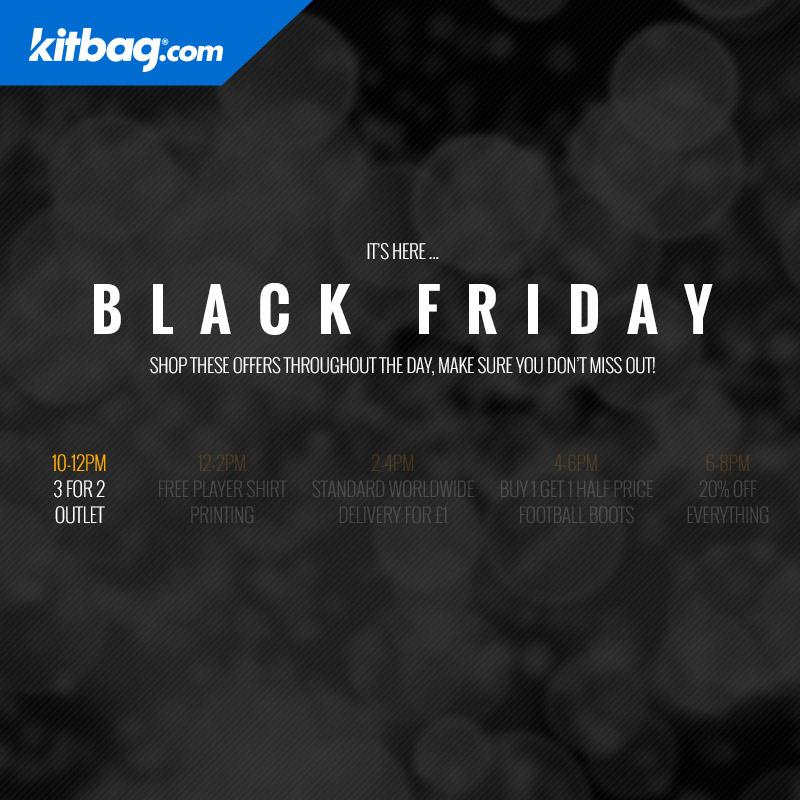 RT @KitbagUK: It's that time #BlackFriday  10am-12pm.  Get 3 for 2 on outlet products! Go ahead... http://t.co/lBMFRRoyzx http://t.co/1mQag…