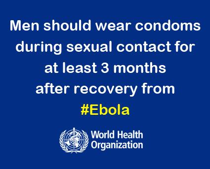 Wear Condoms after Ebola