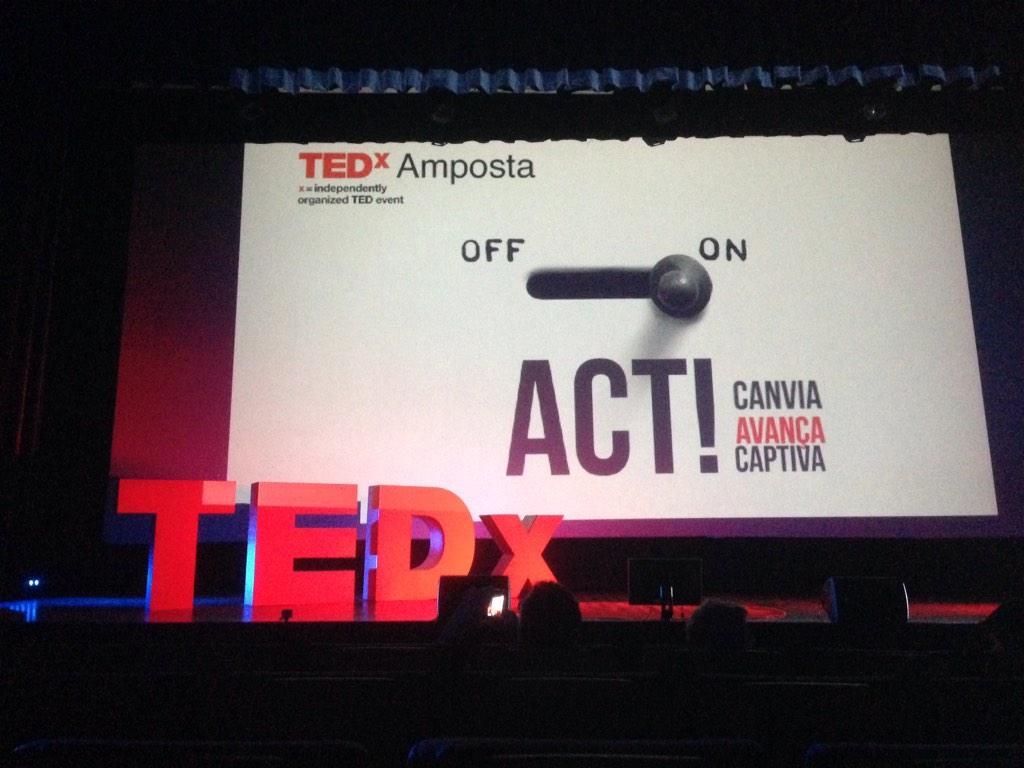 A punt i a puesto. Ja podem començar. #TEDxAmp http://t.co/7uo2kSLELu