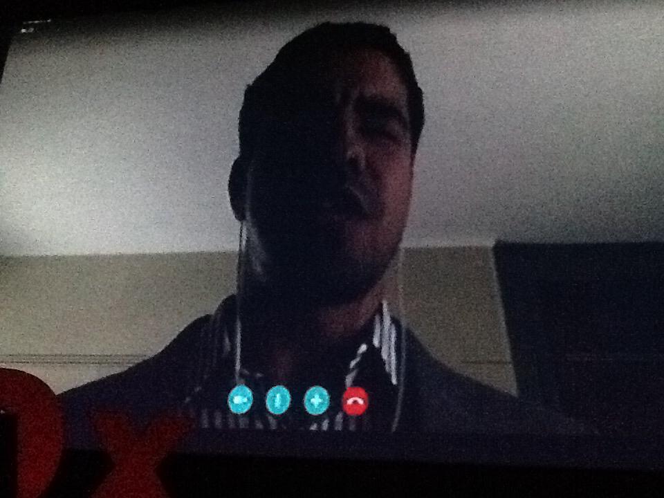 Enhamed, un invident que ens ajudarà a veure, en directe des de USA via Skype al #tedxamp http://t.co/pKVl48U7AP