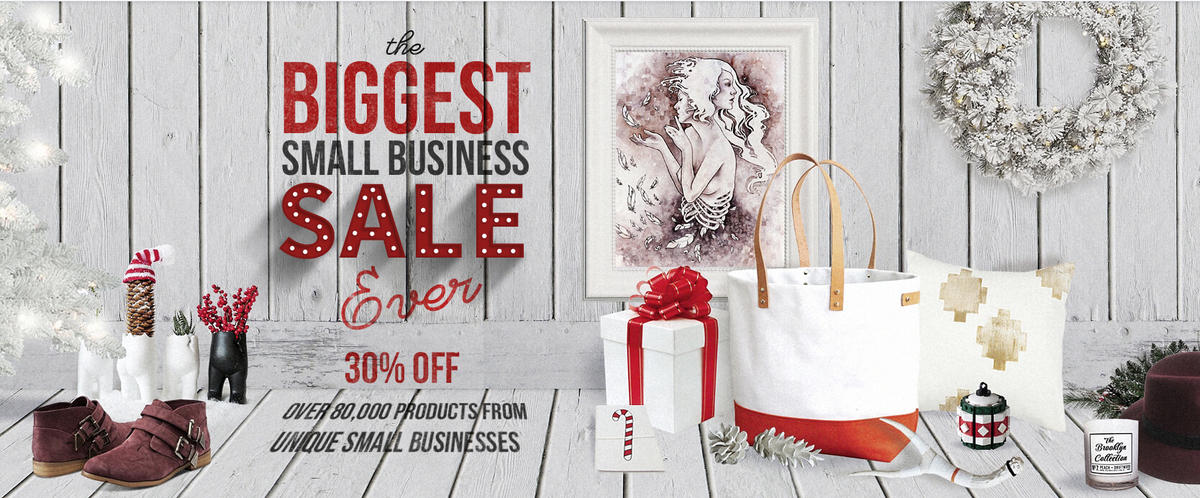 Have you seen? 30% Off over 80K products from unique small businesses! http://t.co/jRaHxhkztq #SmallBusinessEveryday http://t.co/pGkuRqWd3y