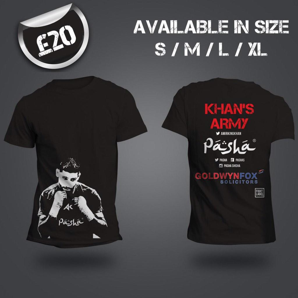 RT @pasha: Place your orders now! #Amirkhan T-shirts get delivered on Wednesday. Contact sebby 07903086909 / 01274 733484 #vegas http://t.c…