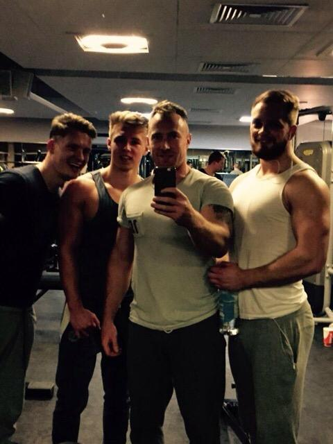 At the gym with the boys @Abbo00  @Sam_Faulkes  @JamesMi11er http://t.co/dkflJKkhDM