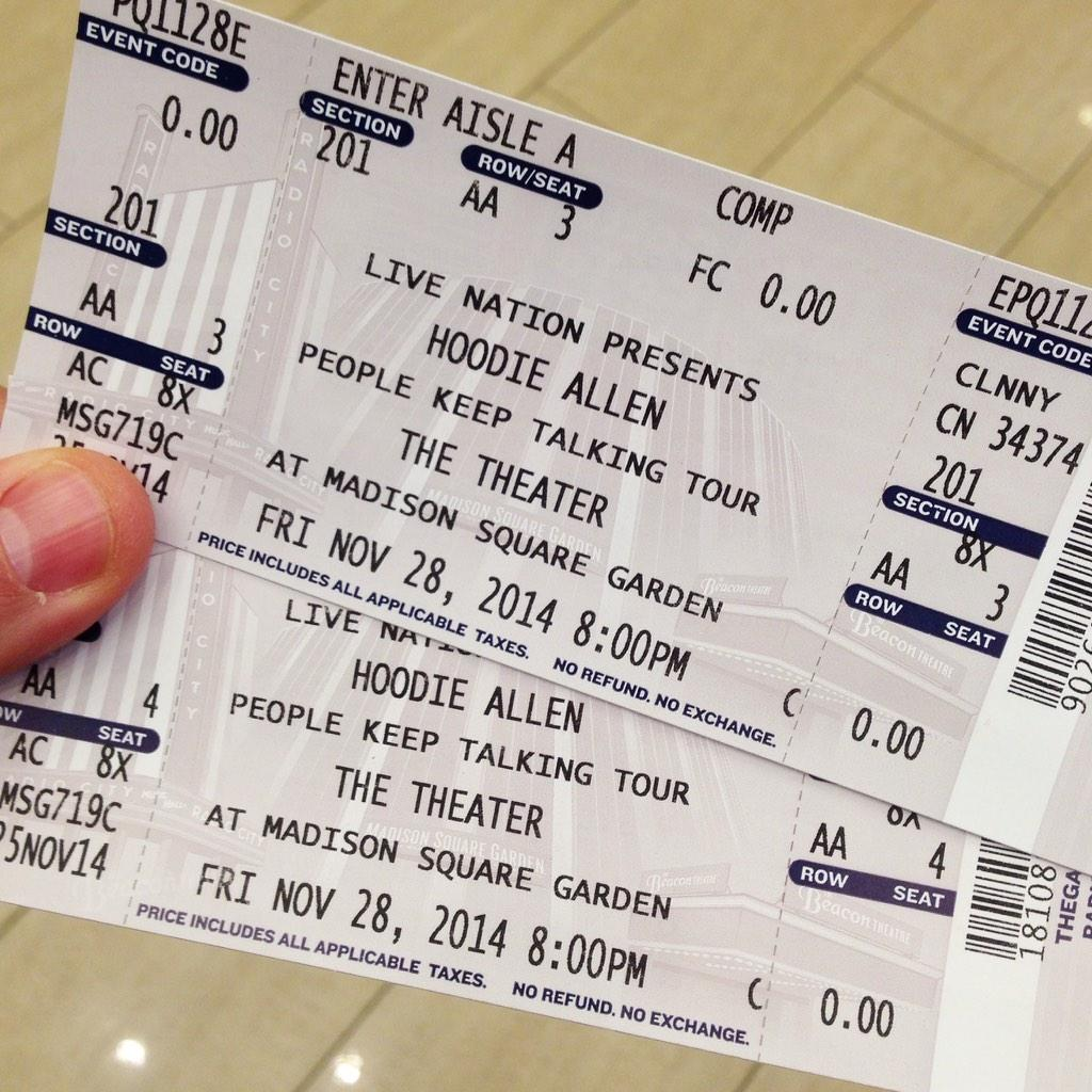 Proud of my bud! Happy to come out, support, see him play @TheGarden's Theater! @HoodieAllen http://t.co/HfSS8djKXS http://t.co/SaYFUoqvDr