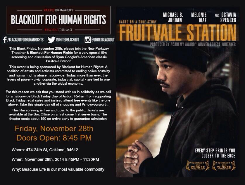 Free Screening: Fruitvale Station. @ New Parkway Theatre | Oakland | California | United States