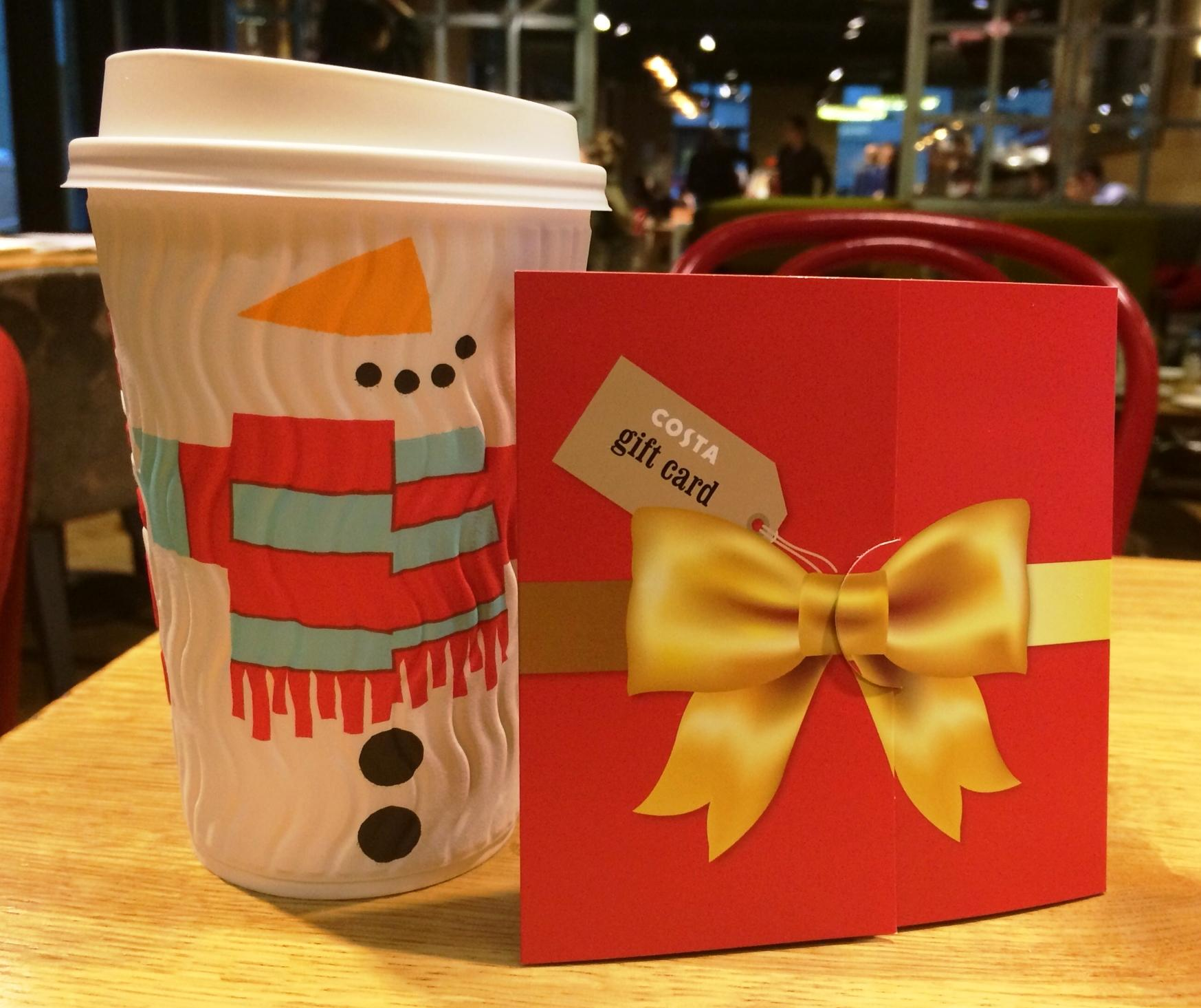 Costa Coffee On Twitter Costa Christmas Gift Cards Are Now