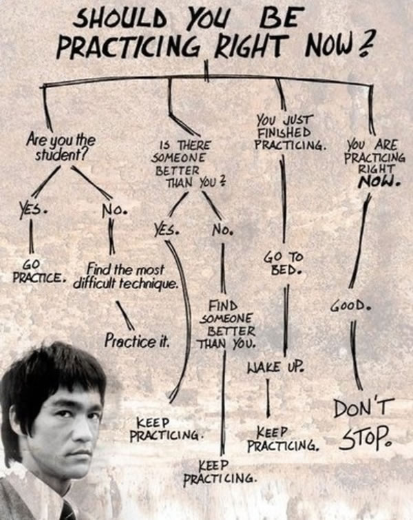 A little flowchart from Bruce Lee on how to become good at something: http://t.co/z7PLqmfrvw http://t.co/0YbQC1dl7r