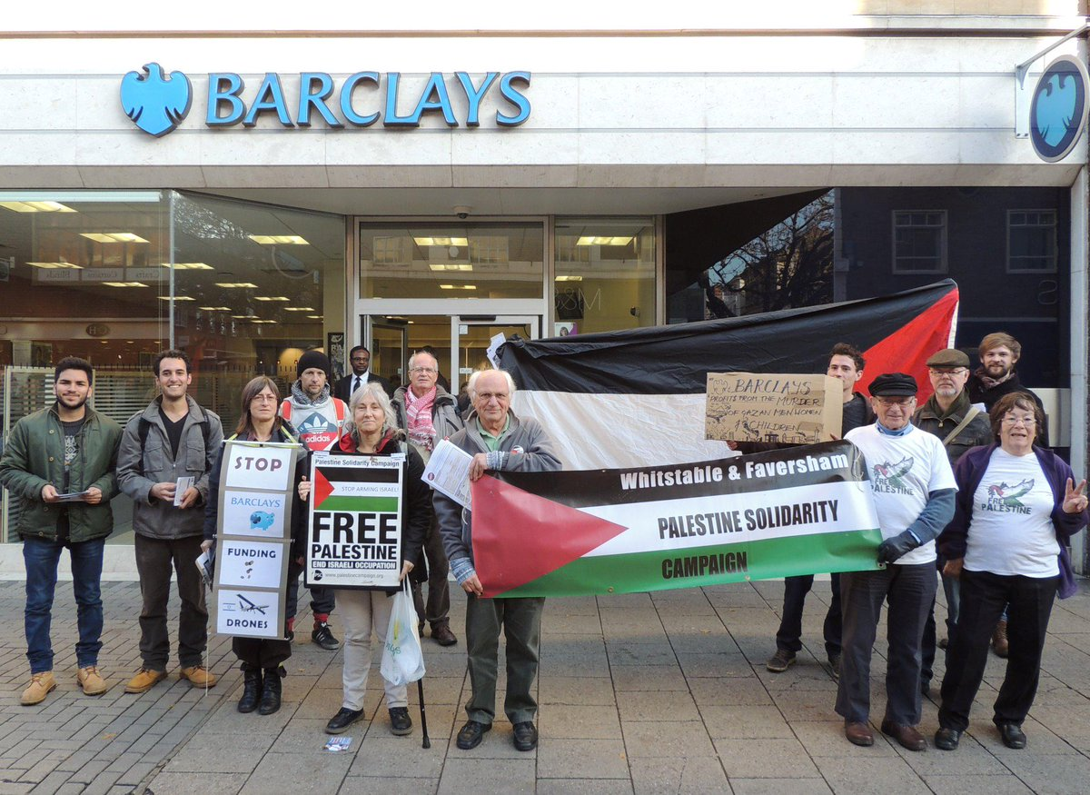 Canterbury, UK. Barclays STOP investing in arming Israel. #Palestine #PSC #UN http://t.co/hIJJZ5ZhlM
