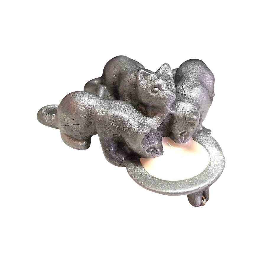 Kittens Drinking Milk AJC Cat pin  Found at http://t.co/2YDuQaVCIX  #RubyLane @Dollherupshop http://t.co/aa15QfqGvy