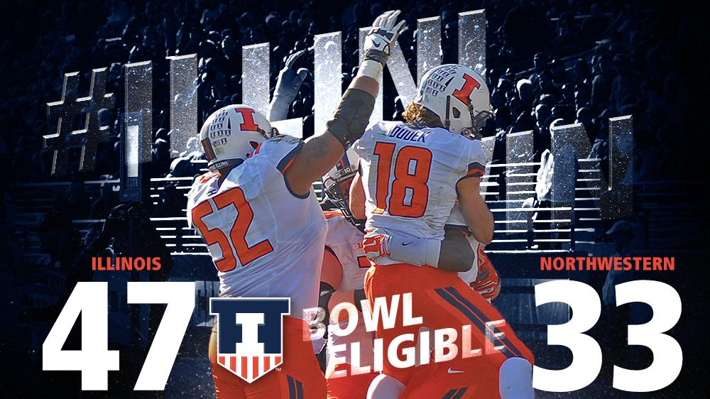 VICTORYx6! The 2014 Fighting #Illini are bowl eligible! #OurStateOurTeam http://t.co/irBNepIUtn