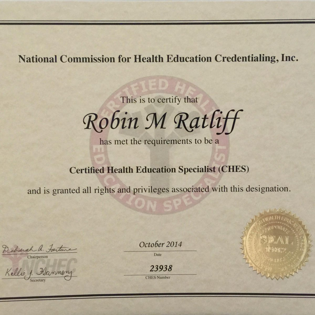 Meme Ratliff On Twitter Passed My Nchec Certified Health
