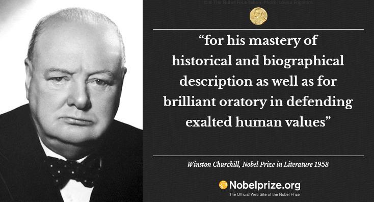 winston churchill nobel prize for literature