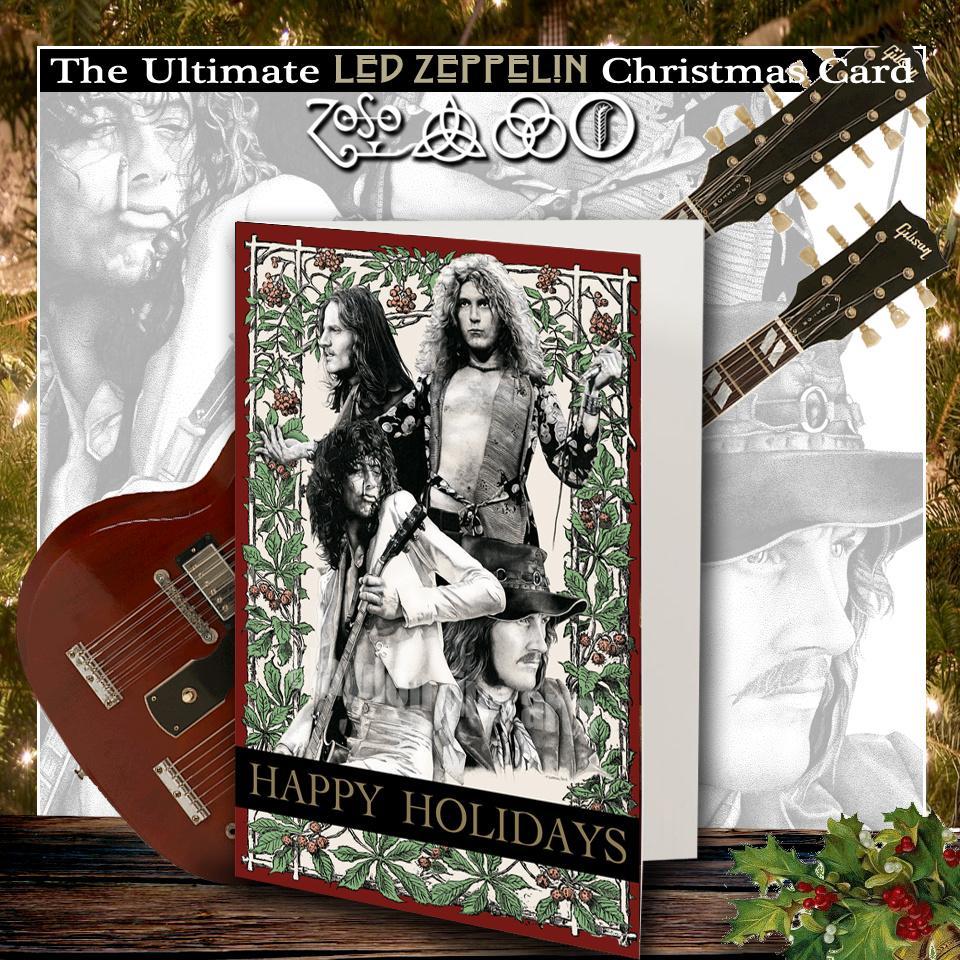 ledzeppelin christmas cards available for order httpclaydonfineartscomrock roll christmas cards jimmypage robertplant xmaspictwittercom - Led Zeppelin Christmas
