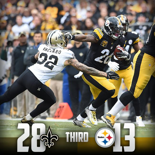 "1a749b11dd9 "" steelers  At the end of the third quarter Steelers trail 28-13.  pic.twitter.com UXIc9WGXga""Jesus fuck"